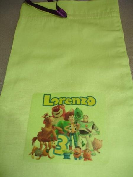 Usando tranfer em tecidos (personalização de sacolas de lembrancinha) Dsc04119